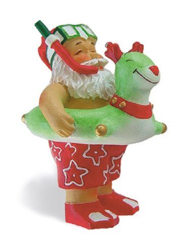 Island Heritage Beach Bound Santa Ornament
