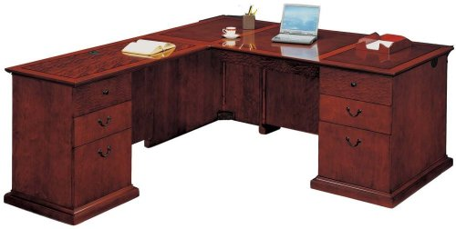 Office Furniture DMI - Left Executive L-Shaped Desk - Executive Office Furniture / Home Office Furniture - 7302-48