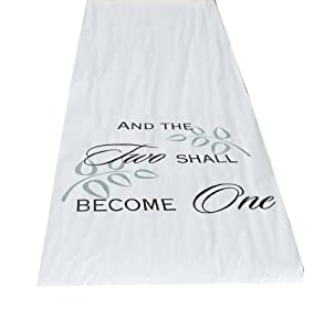 Hortense B. Hewitt Fabric Aisle Runner - Two Shall Become One - 100-Feet Long