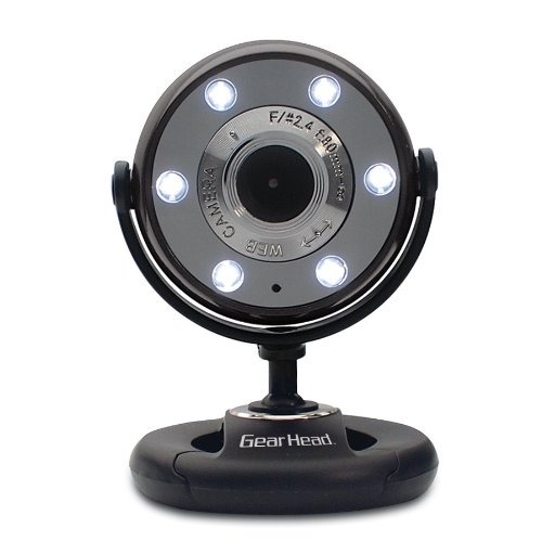 Quick 1.3Mp Webcam With Night Vision (Black)