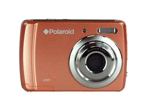 Polaroid CAA-800CC 8 MP Digital Camera with CMOS Sensor and 3x Optical Zoom, Coral