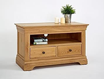 Calais Solid Oak Living Room Furniture Small TV Unit