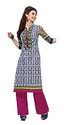 AMP IMPEX Ethnicwear Women's Kurti Fabric BLUE_Free Size