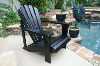 Cedar Adirondack Chair - Black