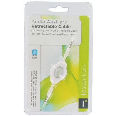 Iessentials Auxiliary Cable For Smartphone - Retail Packaging - White