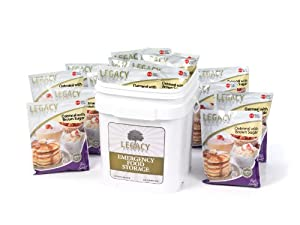60 Serving Gluten Free Emergency Breakfast Meals - 22 Lbs Survival Food Supply -... by Legacy Premium Food Storage