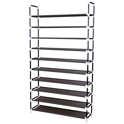Songmics 10 Tiers 50 Pairs Space Saving Shoe Rack Shoe Storage Cabinet  Tower Organizer U2013 Easy Home Organizer