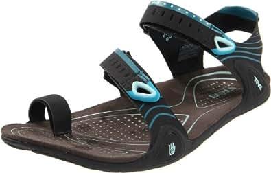Teva Women's Zilch Flexible Sandal,Black,6 M US