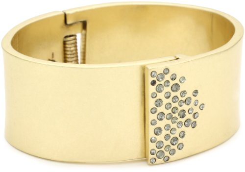 "Kenneth Cole New York ""Urban Glitz"" Pave Hinged Bangle Bracelet"
