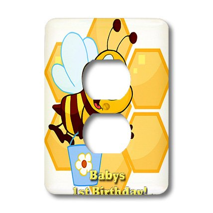 Lsp_58845_6 Edmond Hogge Jr Insects - Bumble Bee Babys 1St Birthday - Light Switch Covers - 2 Plug Outlet Cover front-56794