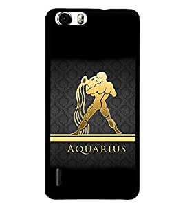 PRINTVISA Aquarius Premium Metallic Insert Back Case Cover for Huawei Honour 6 - D5963