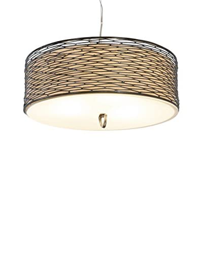 Varaluz Flow 3-Light Ceiling Fixture, Steel/Tan