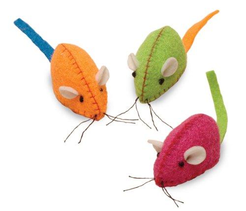 Smart Cat 3900 Neon Nina – Neon Pink, Green, Orange Felt Mice – Bin is 50
