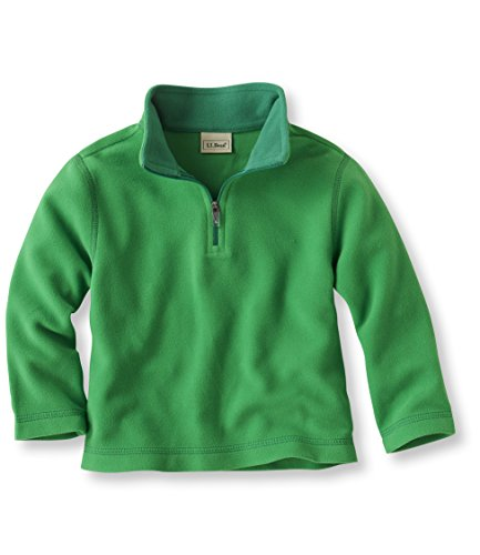 L.L.Bean Unisex-Baby And Fitness Fleece, Pullover Green Medium
