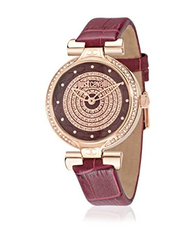 Just Cavalli Orologio al Quarzo Woman Lady J Bordeaux/Oro Rosa 41.6X36 mm