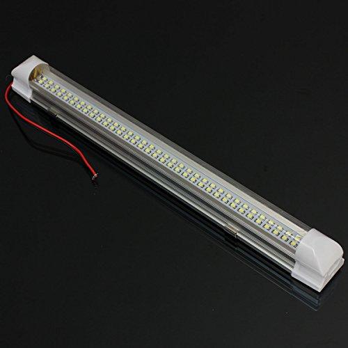 AUDEW-345cm-Striscia-rigida-72-LED-con-a-interruttore-ON-OFF-Car-Auto-interni-lampada-della-luce-di-illuminazione-della-decorazione-interna-dellautomobile-Camion-Veicoli-Auto-DC-12V-Bianco
