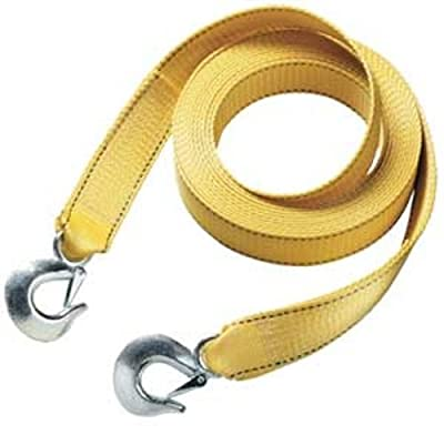 "Master Lock 3174AT 15' X 2"" Tow Strap with Forged Hooks and Clips, 10000 lbs Break Strength/3333 lbs Working Load Limit"