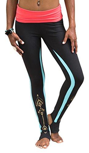 Gaiam Women's Avalon Foldover Legging, Black, X-Large