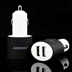 Dual USB Car Charger, AllinoMarket 1.5A/2.5A Smart & Safe Fast Charging 24W Universal Small Size Car Adapter For Phones & Tablets Apple iPhone 6s, 6s plus, 6, 6 plus, 5s, 5c, 5, iPad, Samsung (Black)