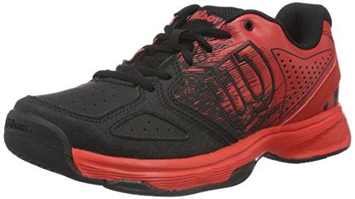 Wilson Kaos Comp JR Radiant.R/Bk/Radiant.R, Scarpe da Tennis Unisex - Bambini, Multicolore (Radiant Red X169), 39 EU
