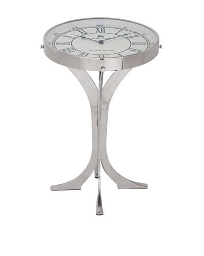 Aluminium Clock Table, White