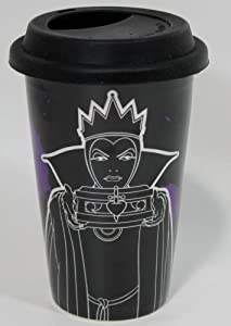 "Disney Snow White's Evil Queen ""Before My Morning Coffee, I'm Wicked"" Ceramic Travel Mug - Disney Parks Exclusive & Limited Availability"