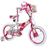 DynaCraft Girl's Barbie Bike (Pink/White, 16-Inch)