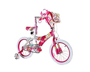 Amazon.com : DynaCraft Girl's Barbie Bike (Pink/White, 16