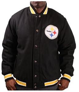 Pittsburgh Steelers NFL Apparel Mens Varsity Jacket Coat by NFL