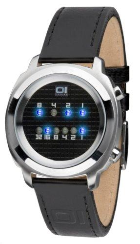THE ONE Zerone ZE102B1 Men's Black Leather Strap Watch