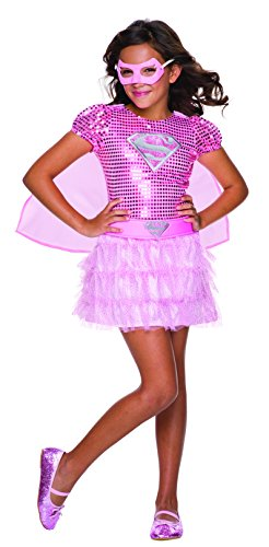 Rubie's Costume DC Superheroes Supergirl Pink Sequin Child Costume