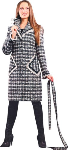 Buy Women's Designer Wool Coat – Ladies Plaid Shawl Collar Wool Coat