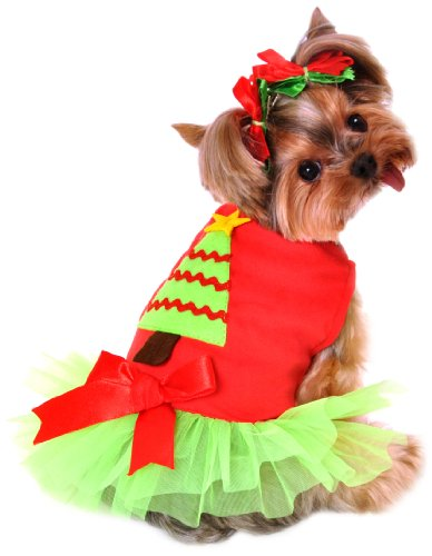 Anit Accessories 20-Inch Christmas Tree Dress Dog Costume, Large