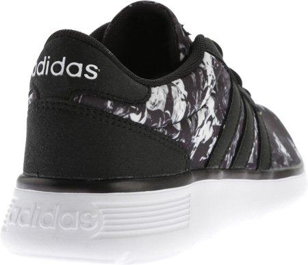adidas neo women's light racer w una scarpa, nero / bianco / nero, 9 m