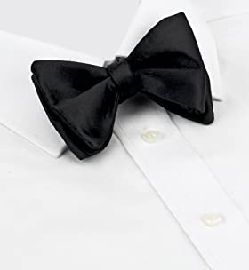 Pure Silk Plain Self Bow Tie