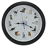 Meowing Cat Clock - 8""