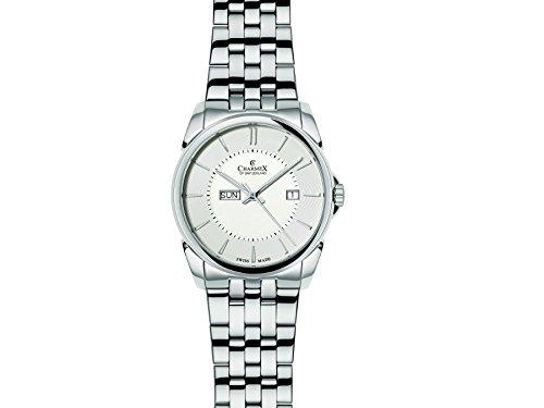 Charmex New Yorker 2625 42mm Silver Steel Bracelet & Case Synthetic Sapphire Men's Watch