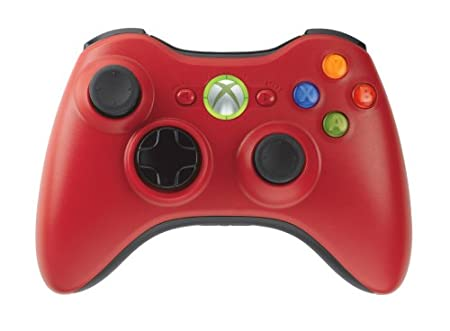 Xbox 360 Limited Edition Red Wireless Controller and Play & Charge Kit