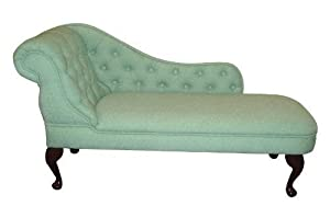 Chaise Longue in a Luxurious Mint Green Chenille Fabric       Customer reviews and more information