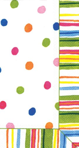 Ideal Home Range 3-Ply Paper Guest Towels, Smart Dots, 16-Count (Pack of 2)