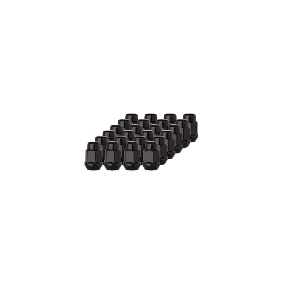 DPAccessories D3141P 2308/24 24 Black 7/16 20 Closed End Bulge Acorn Lug Nuts   Cone Seat   3/4 Hex Wheel Lug Nut