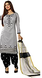 Shreeji Designer's Patiala Style Cotton Dress Material