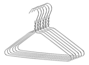 Whitmor 6034-317 Aluminum Hanger Collection Set of Six Aluminum Hangers