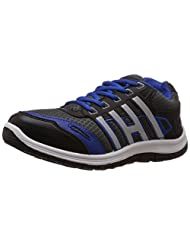Columbus Men Black Blue Sports Shoes