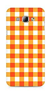 Amez designer printed 3d premium high quality back case cover for Samsung Galaxy A8 (Orange n White Pattern1)