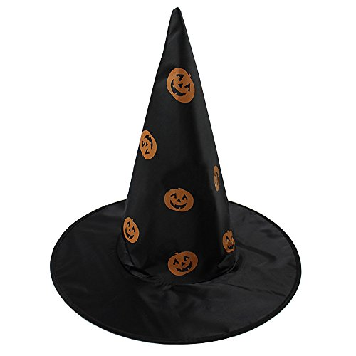 [Halloween,Baomabao Witch Hat For Halloween Costume Black Accessory] (Bell Boy Hat Costume)