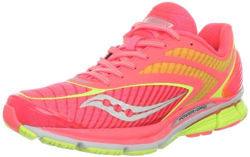 Saucony Women's Cortana 3 Running Shoe,Vizipro Coral/Citron,9.5 M US