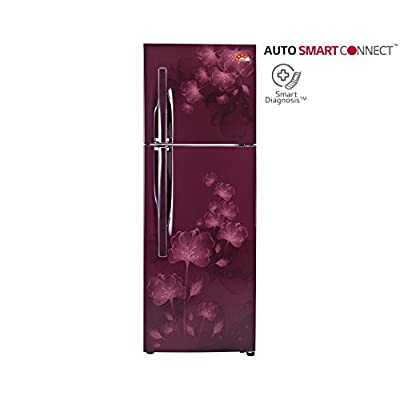 LG GL-I302RSFL 284 L Double Door Refrigerator (Scarlet Florid)