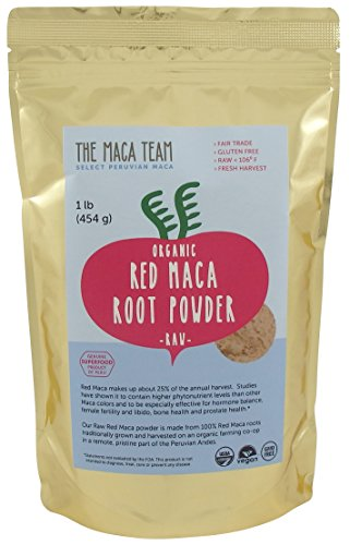 Certified-Organic-Raw-Red-Maca-Root-Powder-Highest-Nutrients-of-All-Maca-Fresh-Harvest-From-Peru-Certified-Organic-Fair-Trade-Gmo-free-Gluten-Free-Vegan-and-Raw-50-Servings-1-Lb-Pouch