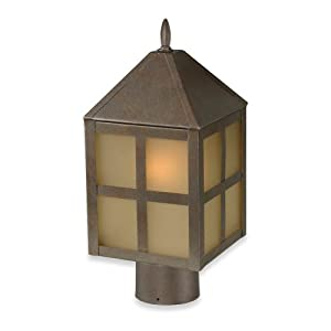 Click to buy Royce Lighting Outdoor Convertible Lantern Corinthian Bronze with Sepia Tinted Globefrom Amazon!